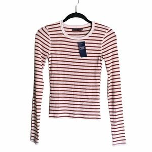 Abercrombie & Fitch Striped Long Sleeve Shirt XS